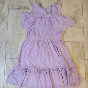 Lilac Ruffle Sleeve Dress
